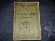 ANTIQUE COLLECTABLE SMALL PB TEDDY'S SHIP BLACKIES STORY BOOK READERS A B ROMNEY